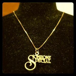 """""""SOMEONE SPECIAL"""" 14k solid gold necklace"""